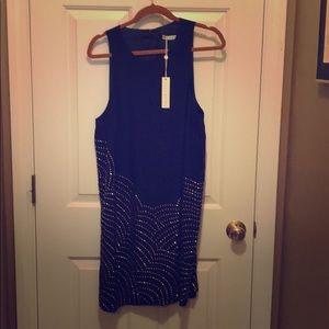 Trina Turk Rainbow Silk Shift Dress - Size 14